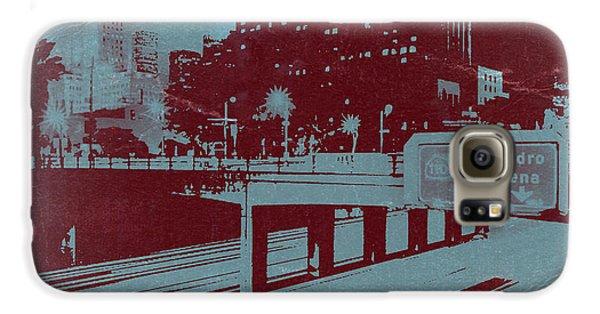 Town Galaxy S6 Case - Downtown La by Naxart Studio