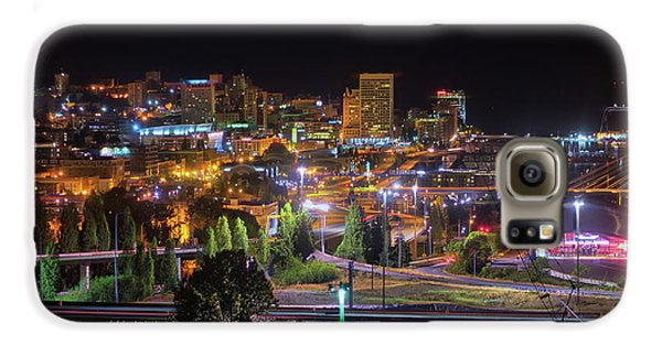 Downtown Tacoma Night Galaxy S6 Case