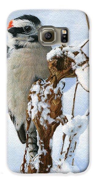 Downy Woodpecker  Galaxy S6 Case by Ken Everett