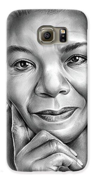 Doctor Galaxy S6 Case - Dr Maya Angelou by Greg Joens
