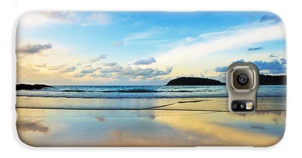 Dramatic Scene Of Sunset On The Beach Galaxy S6 Case