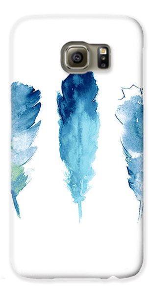 Dream Catcher Feathers Painting Galaxy S6 Case by Joanna Szmerdt