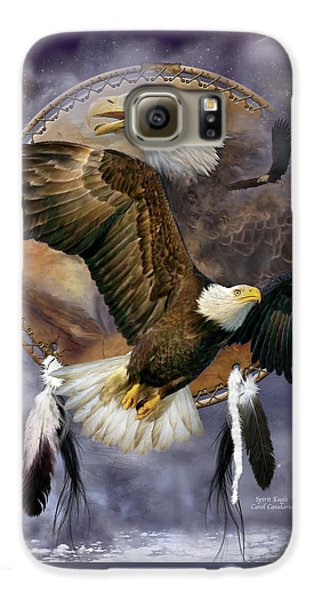 Dream Catcher - Spirit Eagle Galaxy S6 Case by Carol Cavalaris