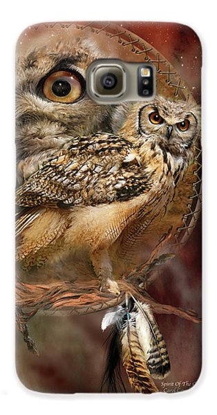 Owl Galaxy S6 Case - Dream Catcher - Spirit Of The Owl by Carol Cavalaris