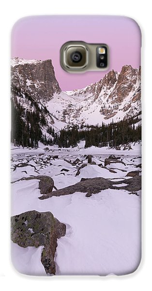 Galaxy S6 Case featuring the photograph Dream Lake Winter Vertical by Aaron Spong