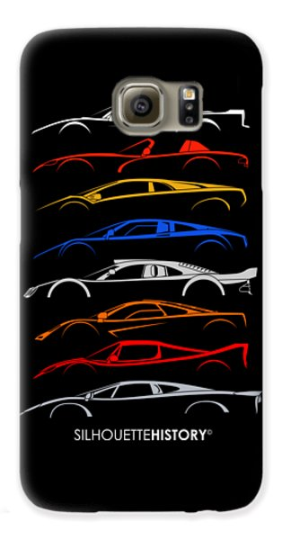 Viper Galaxy S6 Case - Dreamcars Of 90s Silhouettehistory by Gabor Vida