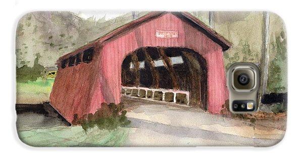 Drift Creek Covered Bridge Watercolor Galaxy S6 Case