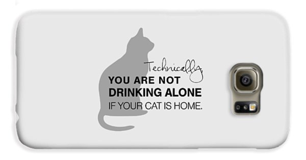 Cat Galaxy S6 Case - Drinking With Cats by Nancy Ingersoll