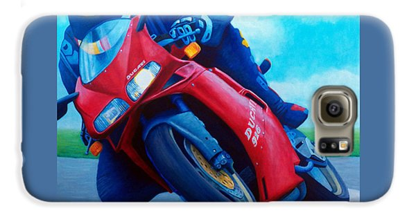 Motorcycle Galaxy S6 Case - Ducati 916 by Brian  Commerford