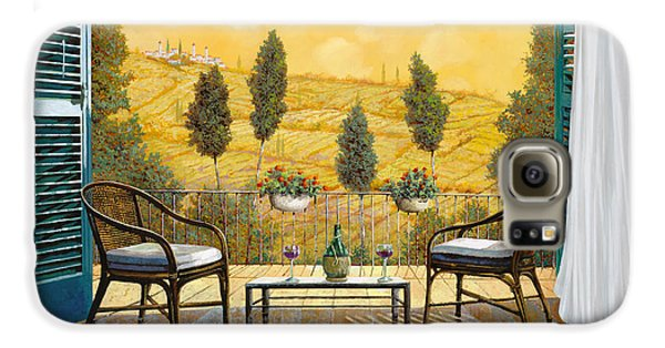 Food And Beverage Galaxy S6 Case - due bicchieri di Chianti by Guido Borelli