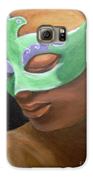 Galaxy S6 Case featuring the painting Dunbar's Mask by Saundra Johnson