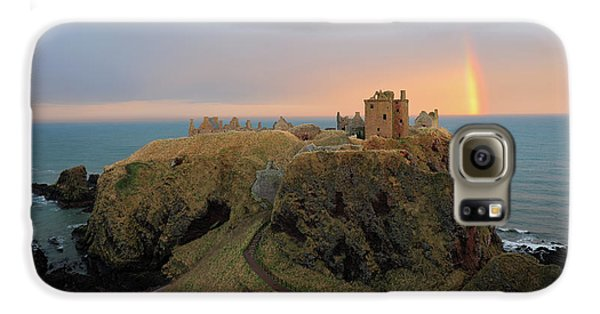 Dunnottar Castle Sunset Rainbow Galaxy S6 Case by Grant Glendinning