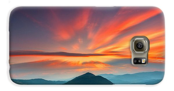 Mountain Sunset Galaxy S6 Case - Eagle Eye by Evgeni Dinev