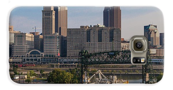 Early Morning Transport On The Cuyahoga River Galaxy S6 Case