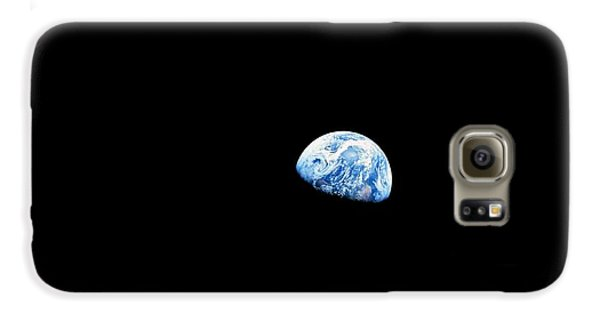 Earthrise Over Moon, Apollo 8 Galaxy S6 Case