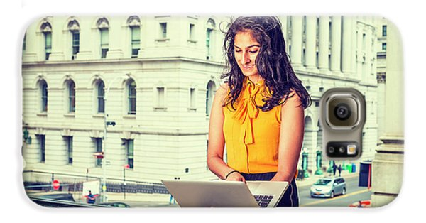 East Indian American Businesswoman In New York Galaxy S6 Case
