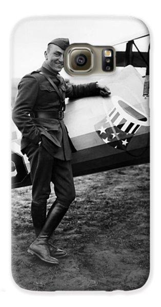 Airplanes Galaxy S6 Case - Eddie Rickenbacker - Ww1 American Air Ace by War Is Hell Store