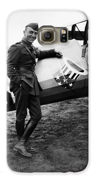 Airplane Galaxy S6 Case - Eddie Rickenbacker - Ww1 American Air Ace by War Is Hell Store