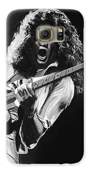 Van Halen Galaxy S6 Case - Eddie Van Halen - Black And White by Tom Carlton