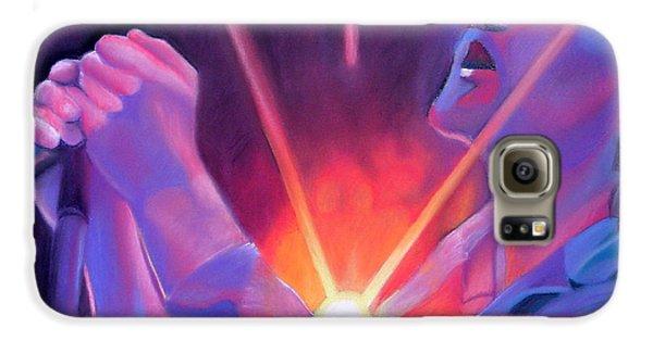 Eddie Vedder And Lights Galaxy S6 Case by Joshua Morton