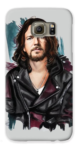Eddie Vedder Galaxy S6 Case by Melanie D