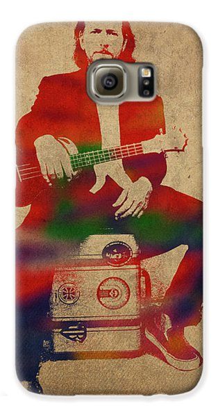 Eddie Vedder Pearl Jam Watercolor Portrait Galaxy S6 Case
