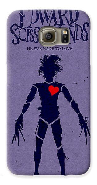Edward Scissorhands Alternative Poster Galaxy S6 Case by Christopher Ables