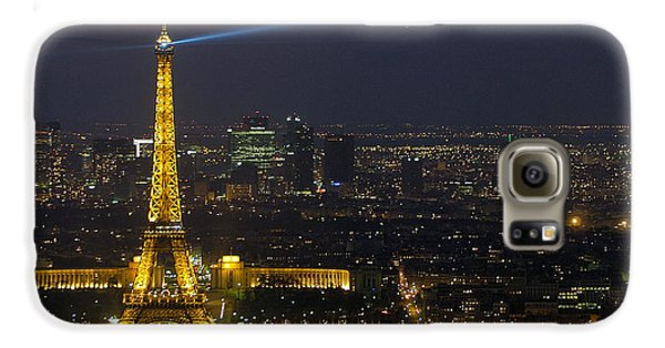 Eiffel Tower At Night Galaxy S6 Case by Sebastian Musial