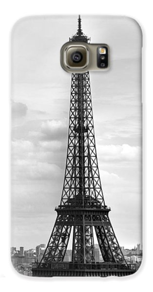 Eiffel Tower Black And White Galaxy S6 Case by Melanie Viola