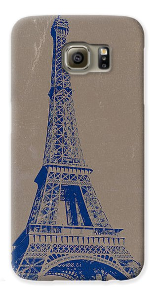 Eiffel Tower Blue Galaxy S6 Case by Naxart Studio