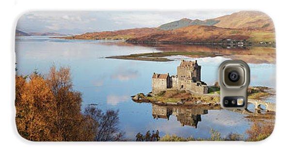 Eilean Donan Castle Panorama In Autumn Galaxy S6 Case by Grant Glendinning