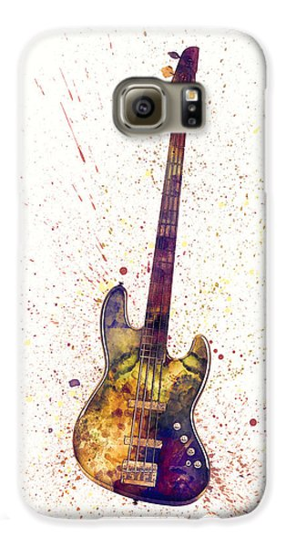 Largemouth Bass Galaxy S6 Case - Electric Bass Guitar Abstract Watercolor by Michael Tompsett