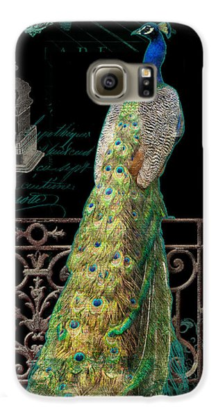 Elegant Peacock Iron Fence W Vintage Scrolls 4 Galaxy S6 Case by Audrey Jeanne Roberts
