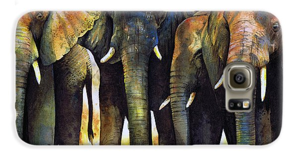 Elephant Herd Galaxy S6 Case