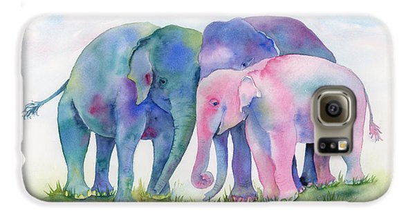 Elephant Hug Galaxy S6 Case by Amy Kirkpatrick