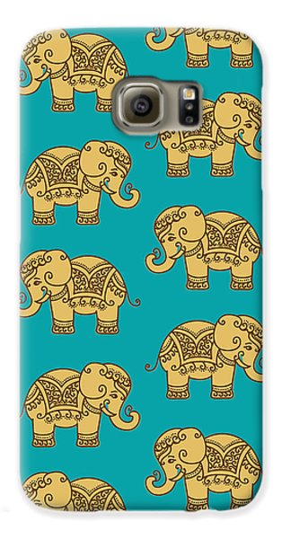 Elephant Pattern Galaxy S6 Case