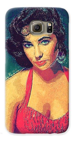 Elizabeth Taylor Galaxy S6 Case by Taylan Apukovska