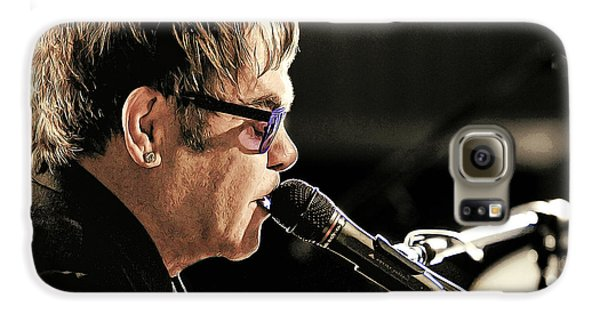 Elton John At The Mic Galaxy S6 Case by Elaine Plesser