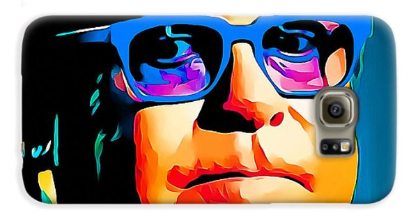 Elton John Blue Eyes Portrait Galaxy S6 Case by Yury Malkov
