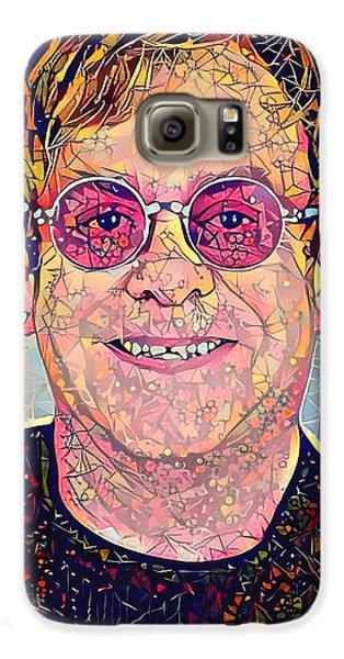 Elton John Triangles Portrait Galaxy S6 Case by Yury Malkov