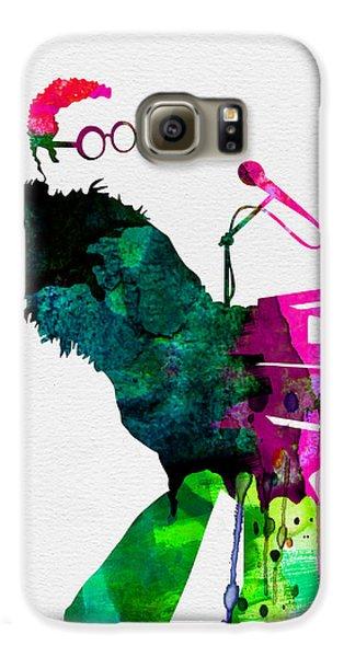 Musicians Galaxy S6 Case - Elton Watercolor by Naxart Studio