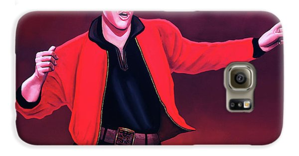 Rock And Roll Galaxy S6 Case - Elvis Presley 4 Painting by Paul Meijering