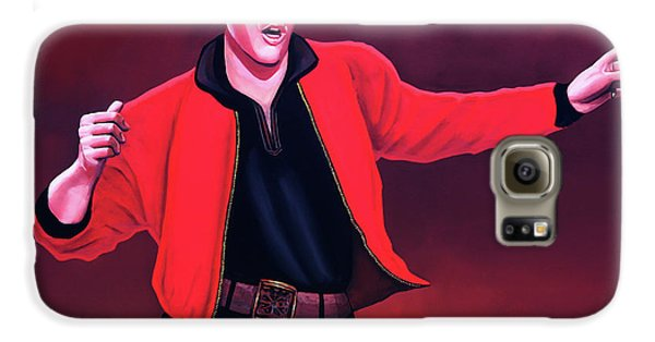 Rhythm And Blues Galaxy S6 Case - Elvis Presley 4 Painting by Paul Meijering