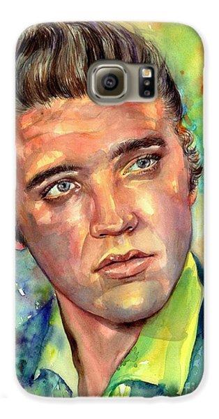Elvis Presley Galaxy S6 Case - Elvis Presley Watercolor by Suzann's Art