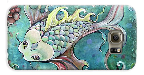 Emerald Koi Galaxy S6 Case by Shadia Derbyshire