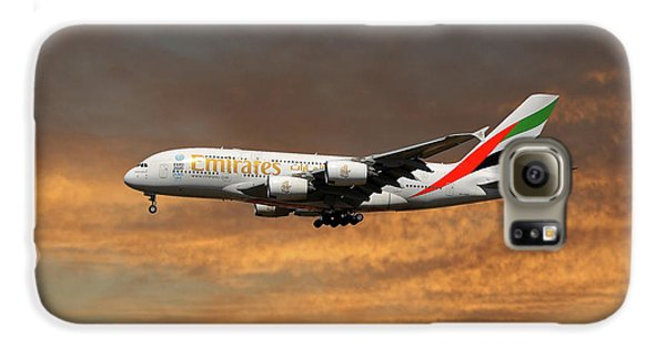 Jet Galaxy S6 Case - Emirates Airbus A380-861 3 by Smart Aviation