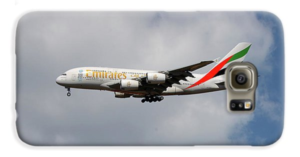 Jet Galaxy S6 Case - Emirates Airbus A380-861 5 by Smart Aviation