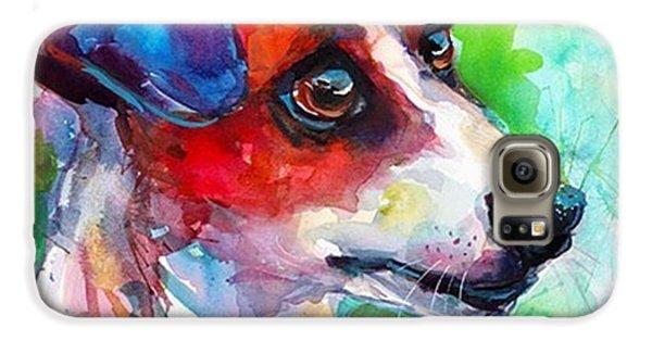 Galaxy S6 Case - Emotional Jack Russell Terrier by Svetlana Novikova