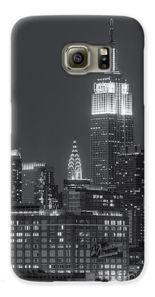 Empire State And Chrysler Buildings At Twilight II Galaxy S6 Case