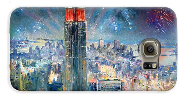 Statue Of Liberty Galaxy S6 Case - Empire State Building In 4th Of July by Ylli Haruni